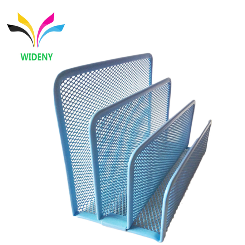High quality Office Metal Mesh 3 Tier Section Mail Document File Organizer Letter Tray Organizer