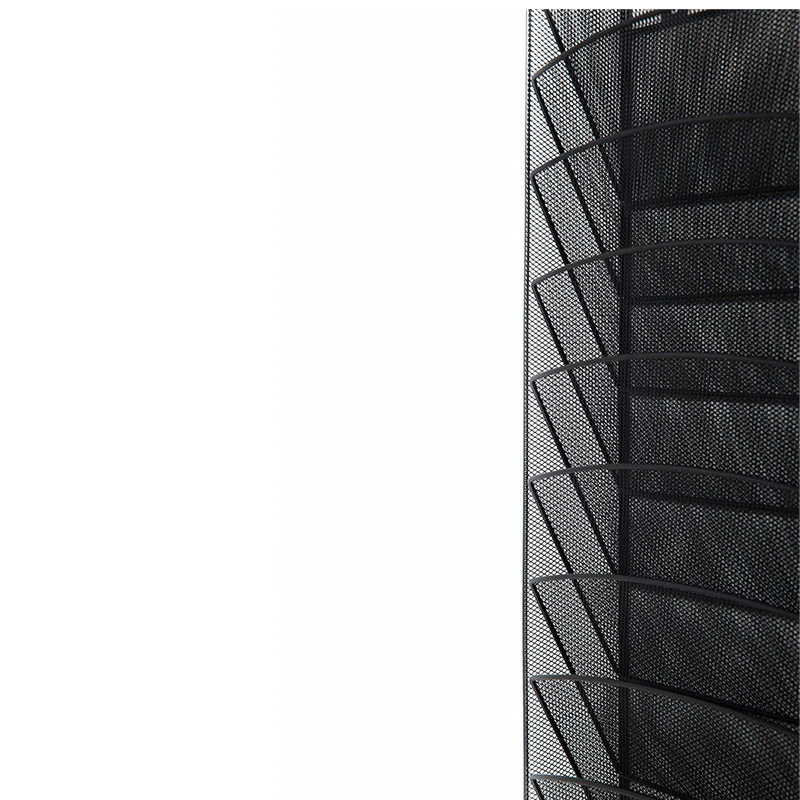 Office hot sales Black Metal Wire Mesh 8 Pocket Wall Mounted Hanging File Folder Organizer
