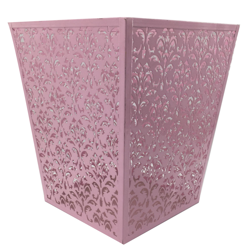 Home or Office Metal square waste Can paper Wastebasket Garbage Container Bin for Bathrooms Metal trash basket