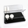 2018 Newest Amazon Hot Sale Customized Wire Kitchen Organizer Wall Mounted Stainless Steel  Dish Drainer