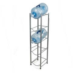 5-Tier Detachable Heavy Duty Chrome Water Bottle Cabby Rack with Holder