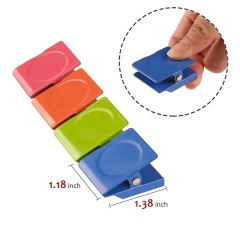 Wideny factory suppliers Square  Metal refrigerator Magnet magnetic Clip Wall Magnetic Memo Note cilp for whiteboard