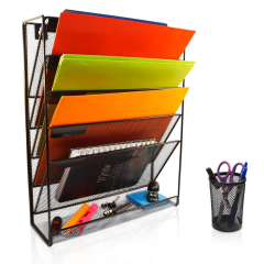 factory hot sell stock custom metal mesh accordion expandable wall mounted hanging wall file organizer