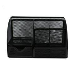 Wholesale Custom Office metal mesh wall black desk organizer with drawer