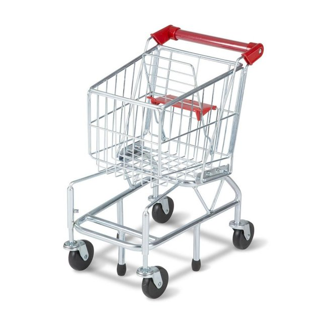 Customized plastic folding supermarket shopping trolley cart for sale