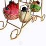 Wideny Big Morden Birthday rotating Ferris wheel Gold Metal wire Cupcake Cake Stand For Wedding