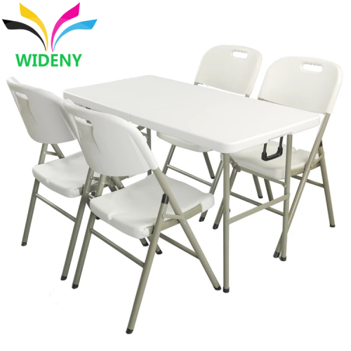 Furniture top blow molded camping pinic plastic folding dining table