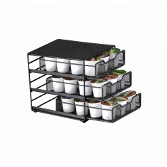 WIDENY metal mesh coffee capsules Storage Drawer for K-Cup Pods