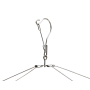 Women Rotating Metal 24 Clips Kids Rectangle Folding Custom Cloth Hanger Hook