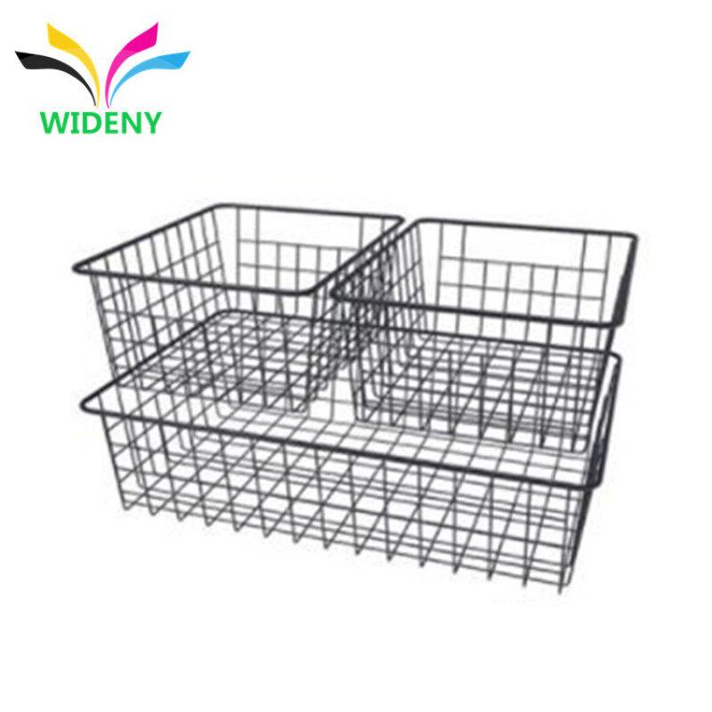 Beautiful design mesh metal wire rose gold desk desktop organizer for notebook storage basket