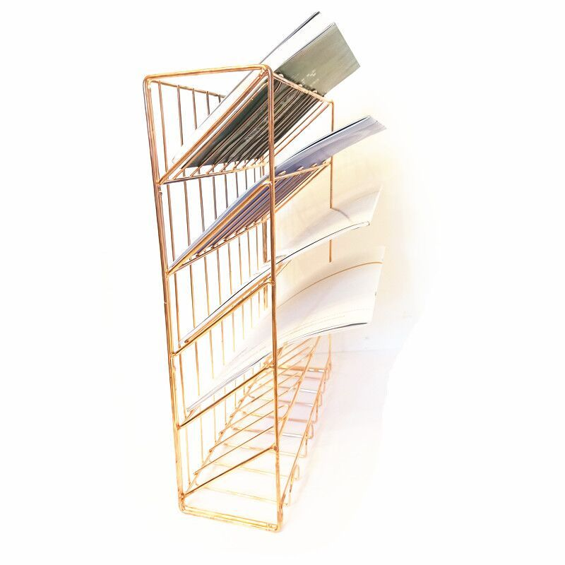 new design household storage rose gold door hanging document Tray wall mounted File Organizer