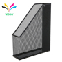 Office wire mesh file magazine rack silver hanging on the wall