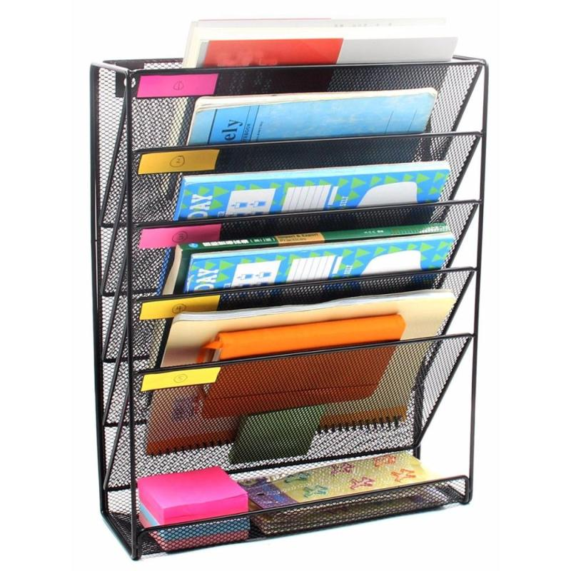 office files sort document holder metal mesh wall mounted file organizer