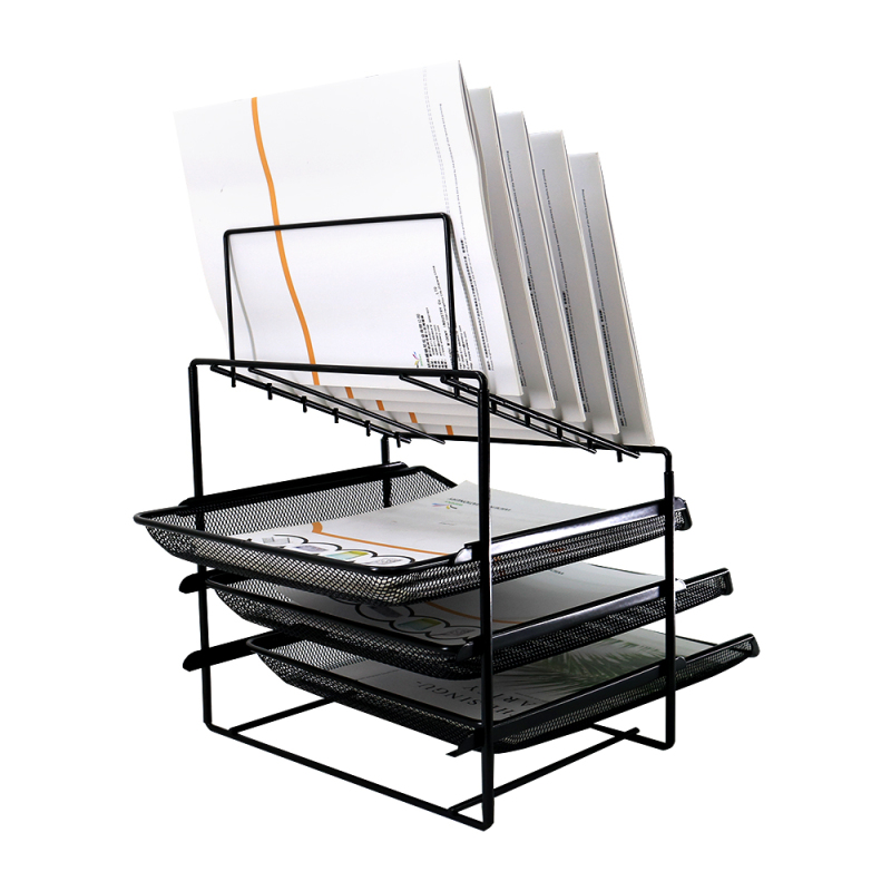 Office School Home household desktop letter file document table caddy Metal Mesh Office Desk Organizer for holder files