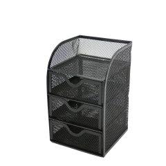 mesh wall mounted file holder desktop document tray metal desk organizer