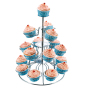 Wholesale Table Tools Afternoon High Tea 3 Tiers Decorative Silver Cake Cupcake Stand for Decoration Wedding