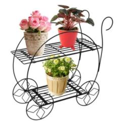 Manufacture High Quality Centerpiece Wedding Decoration Artificial Iron Garden Plant Flower Stand