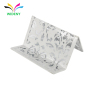 Promotional Stationery Office desktop metal elegant pattern business card stand for name card display