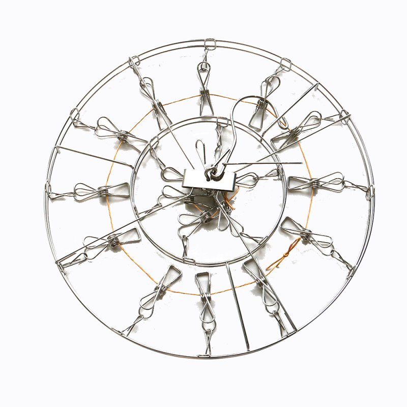Wholesale Supplies Metal Stainless Steel Retractable Rotating Clothes Hanger Butterfly Style Round Clothes Hanger Rack