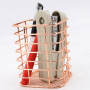 new fashion square metal wire 120 g rose gold pencil storage pen holder