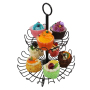 Detachable Bent Hook Foot Hollow Iron Metal Round Double Floor Cake Stand For Cupcake