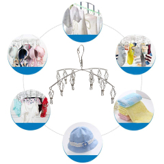 Wholesale l-best Multifunctional Indoor Balcony Wall Hanging Metal Stainless Steel Foldable Clothes Drying Rack
