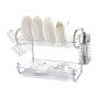 High Quality New Design Kitchen Tree shape Green Stainless Steel 2-Tier Dish Drying Rack