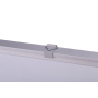 Portable Interactive Wall Sticker Desktop System Silver Aluminium Frame Retractable Rollable Whiteboard for School