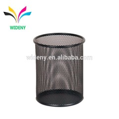 Wideny desk desktop table promotion wholesale stationery single stand office mesh metal black pencil cup pen holder for stand