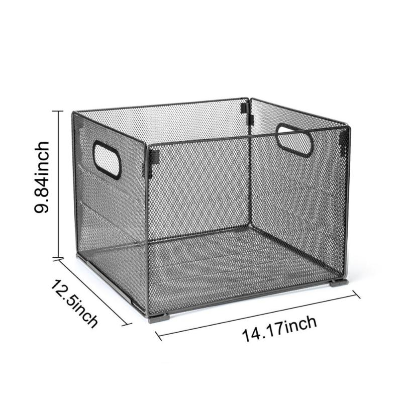 Amazon Office Desk Metal Mesh Foldable Storage Crate Folder File Organizer for Home Letter Box Holder Rack