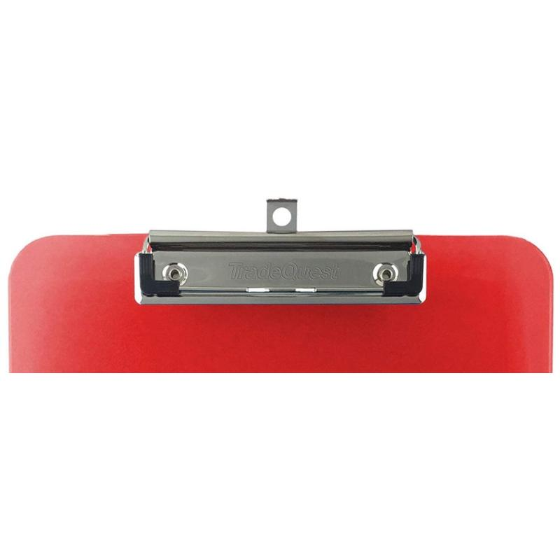 Custom Colorful Transparent mix assorted colors a4 Size Storage letter plastic clip board clipboard with low profile clip