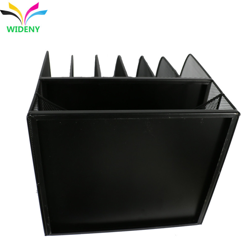 Wideny powder coated 7 holders wire metal office supplies desktop organizer