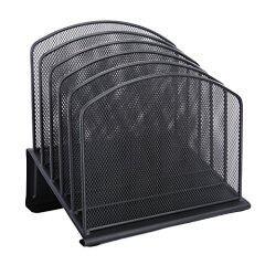 Durable Steel Construction Wire mesh desktop organizer file magazine holder Vertical Section Incline letter mail file Sorter