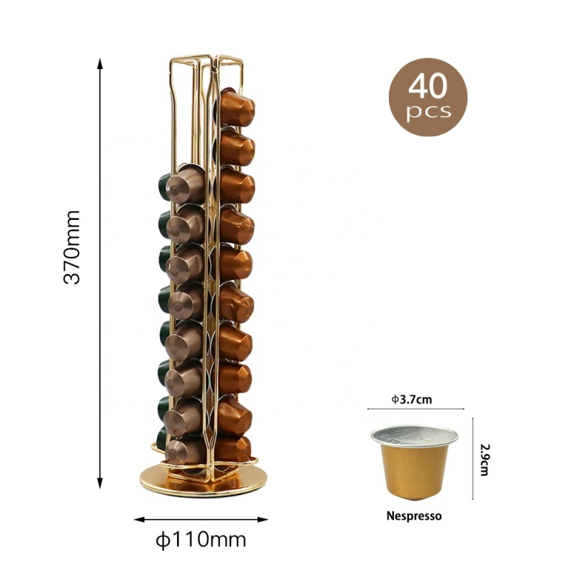 High quality 40 Cups Nespresso powder coating Durable Coffee Pod Holder