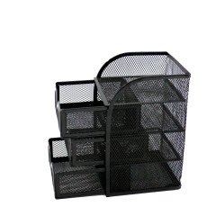 Wideny quality desktop each set in one pack black mesh office organizer set for desk