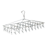 Home Wall Mounted Swing Stand 48 Clips Clothing Hangers Stainless Steel Square Metal Clothes Hangers With Hook Hanger