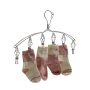 Nancy Outdoor Stainless Steel Silver Bending Single Type Wind-proof Cloth Hangers with 6 clips