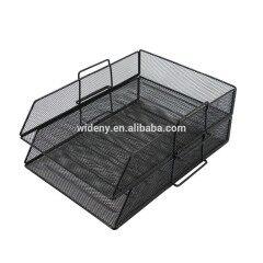 2-Tier Metal Stationery Desktop Office School Supplies mesh Desk Organizer File Tray