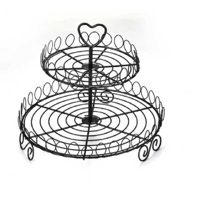 Wideny Metal Dessert Cake Stand 2 or 3 Tiers Cupcake Display Stand For Wedding Birthday Party