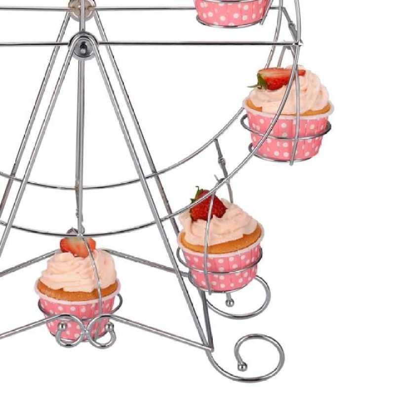 Wideny kitchen Accessories Party Dessert Display Stand hold 8 cakes Ferris wheel cake stand
