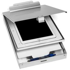 Amazon hot selling Office Stationery Customized aluminum dual storage clipboard with Storage