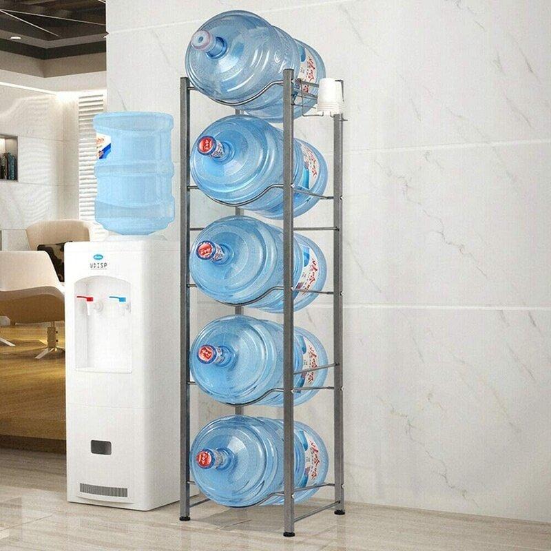 Hot sale 5 gallon Detachable Heavy Duty water bottle storage display rack with 5-Tier
