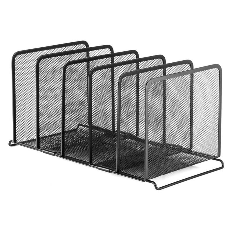 wholesales supplier 6 Vertical Compartments hot sale stackable desktop File Organizer Sorter