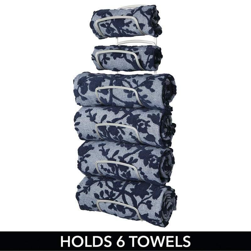 wholesale kitchen bathroom accessories wall mount door black iron metal wire hanging drying bath towel rack