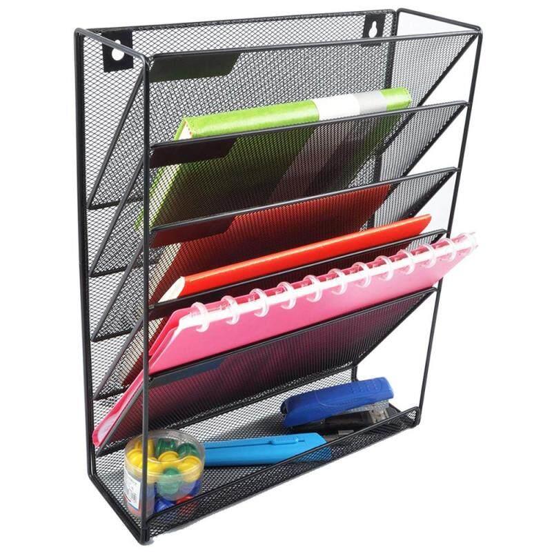 Office supplier Iron mesh desk wire metal wall mounted Door hanging letter sort document file folders organizer