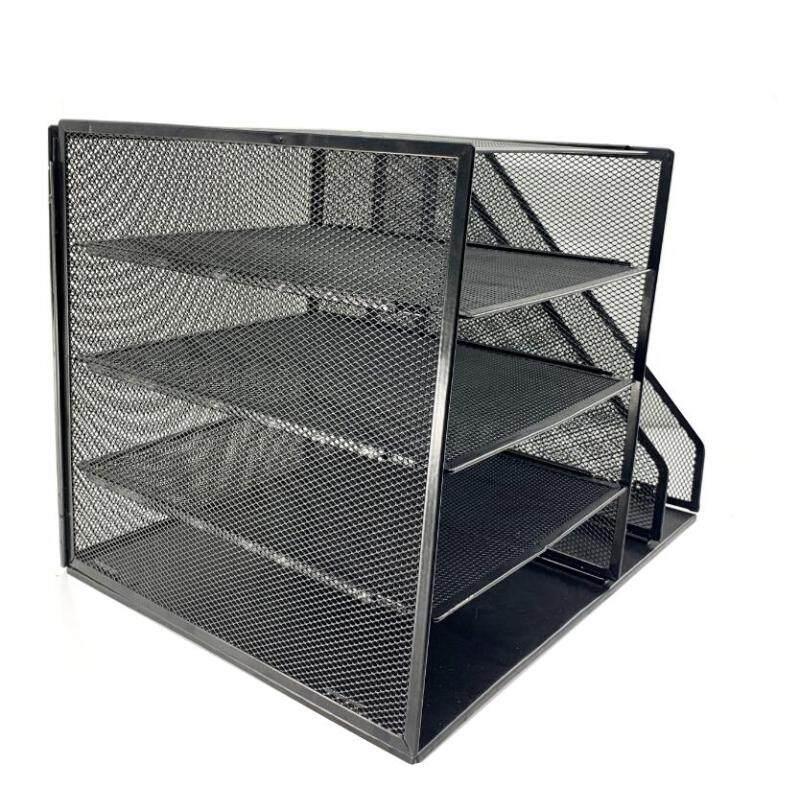 Office and home black detachable folding black desk desktop file tray organizer
