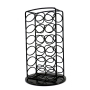 360 Degree Rotating Coffee Capsule Stand Storage 36 PCS Caffitaly Carousel Black Standing Coffee Pod Rack