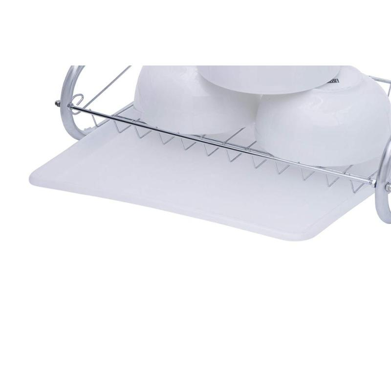 Lifine Dish Drainer Expandable Hanging Stainless Steel Kitchen Utensils Rack Over Sink Display Stand Dish Drying Rack