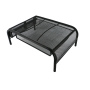 Office home school black metal mesh wire desk monitor stand riser and desk organizer drawer for monitor