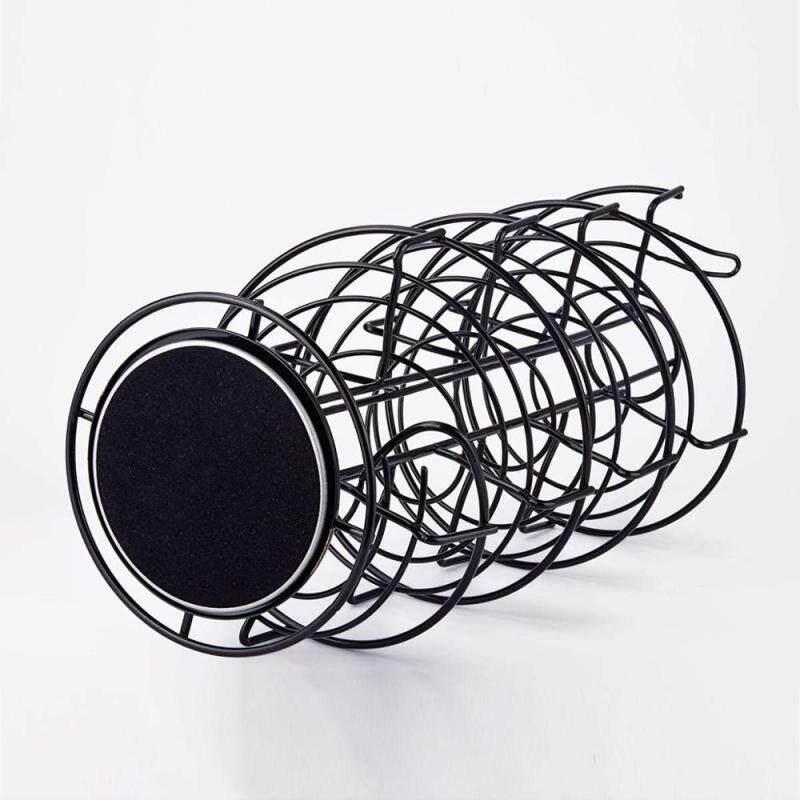 Wideny Kitchen Black Metal Egg Skelter Spiraling Dispenser Storage Display Rack